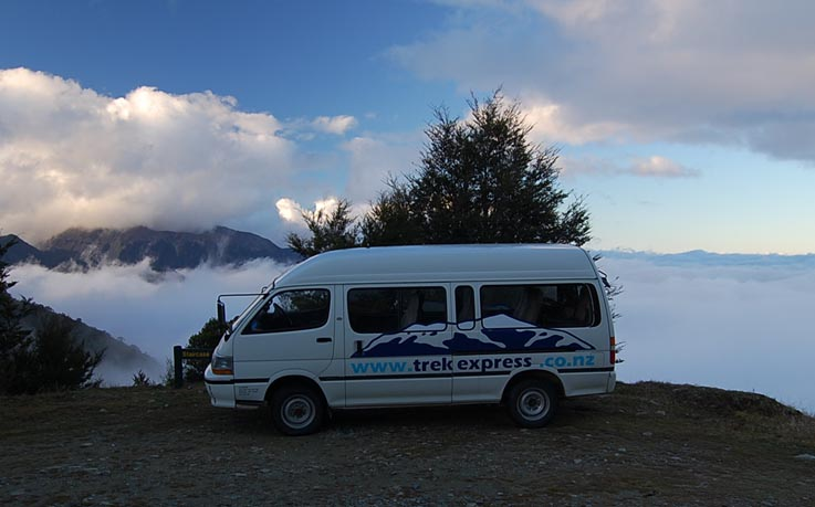 Van above clouds