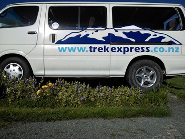 Track transport to National Parks in the top of the South Island of New Zealand